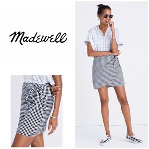 🆕MADEWELL Gingham Side Tie Casual Skirt